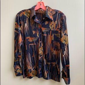 Rare vintage Sam's Fifth Ave nylon blouse